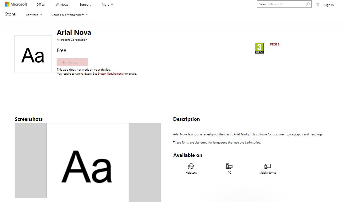 microsoft may soon allow you to download fonts from microsoft store