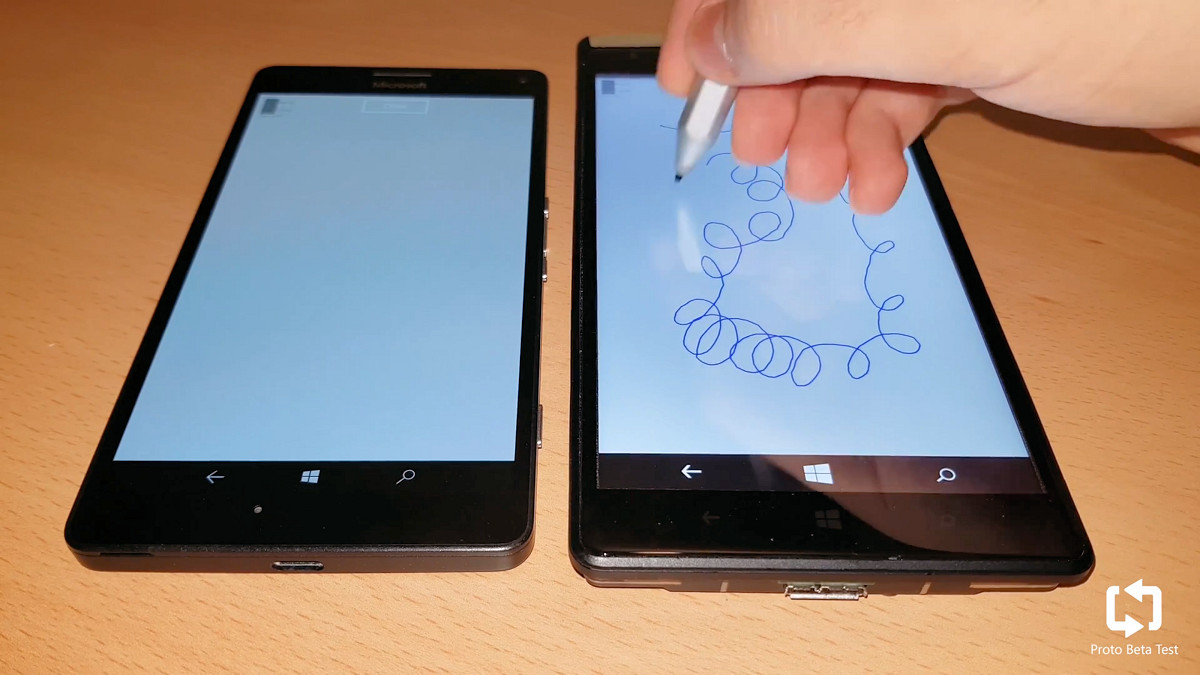 Leaked prototype shows Surface Pen support on Windows 10 Mobile