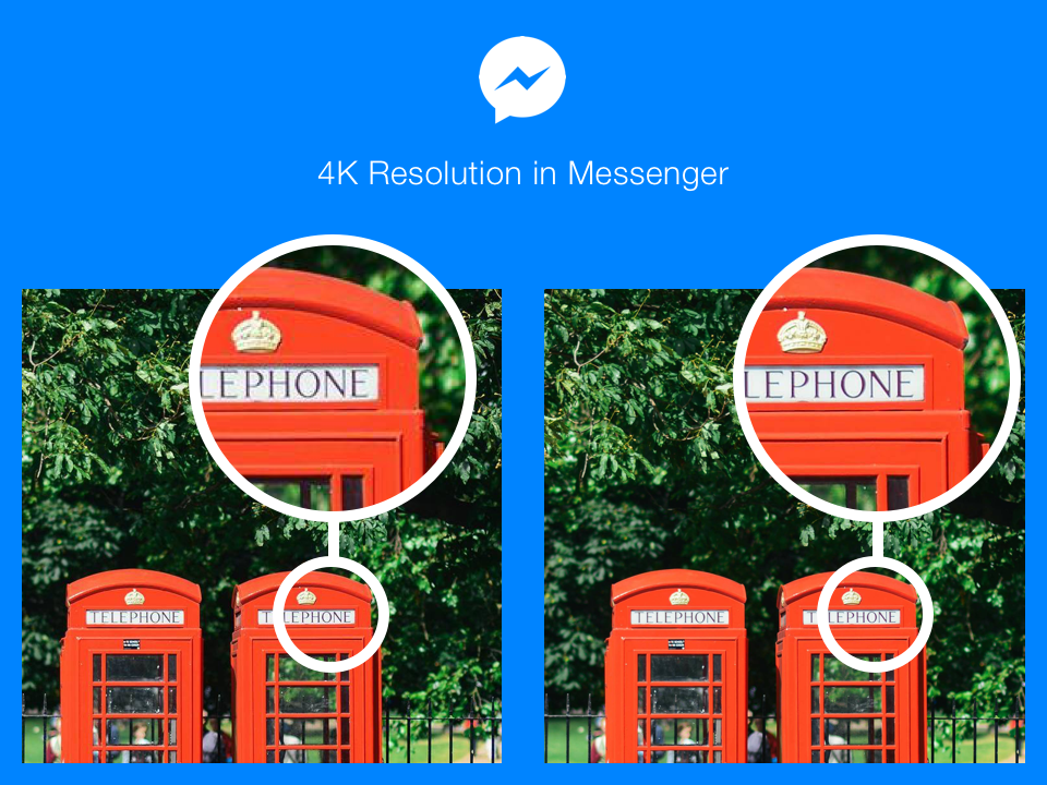 Facebook announces 4K photo sharing ability on Messenger