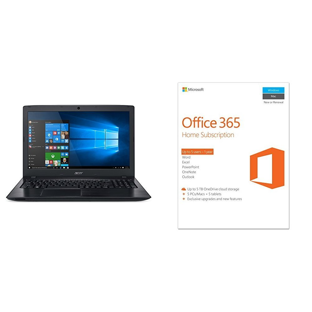 Deal acer aspire e 15 inch full hd laptop plus office 365 for Style at home subscription deal