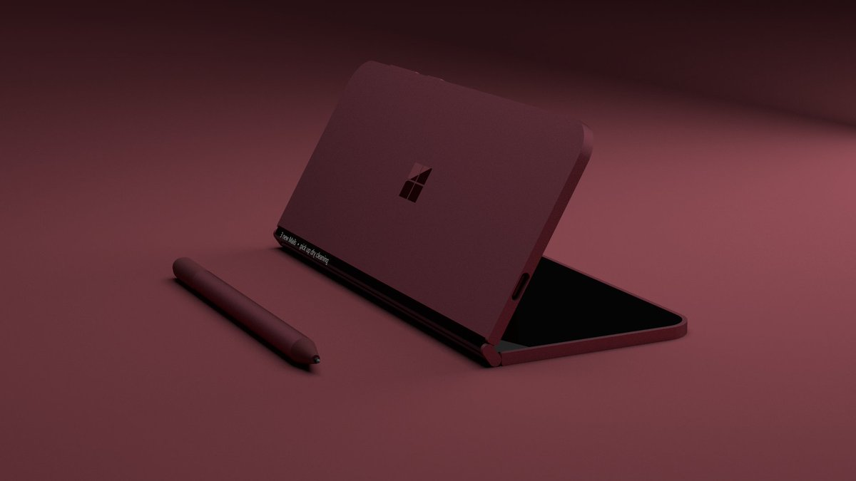 Renders of a foldable Surface Phone posted online 6