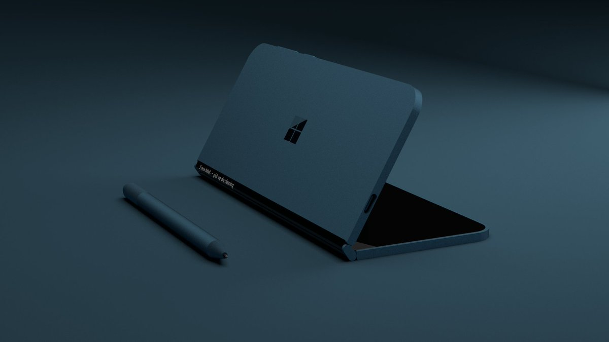 Renders of a foldable Surface Phone posted online 7