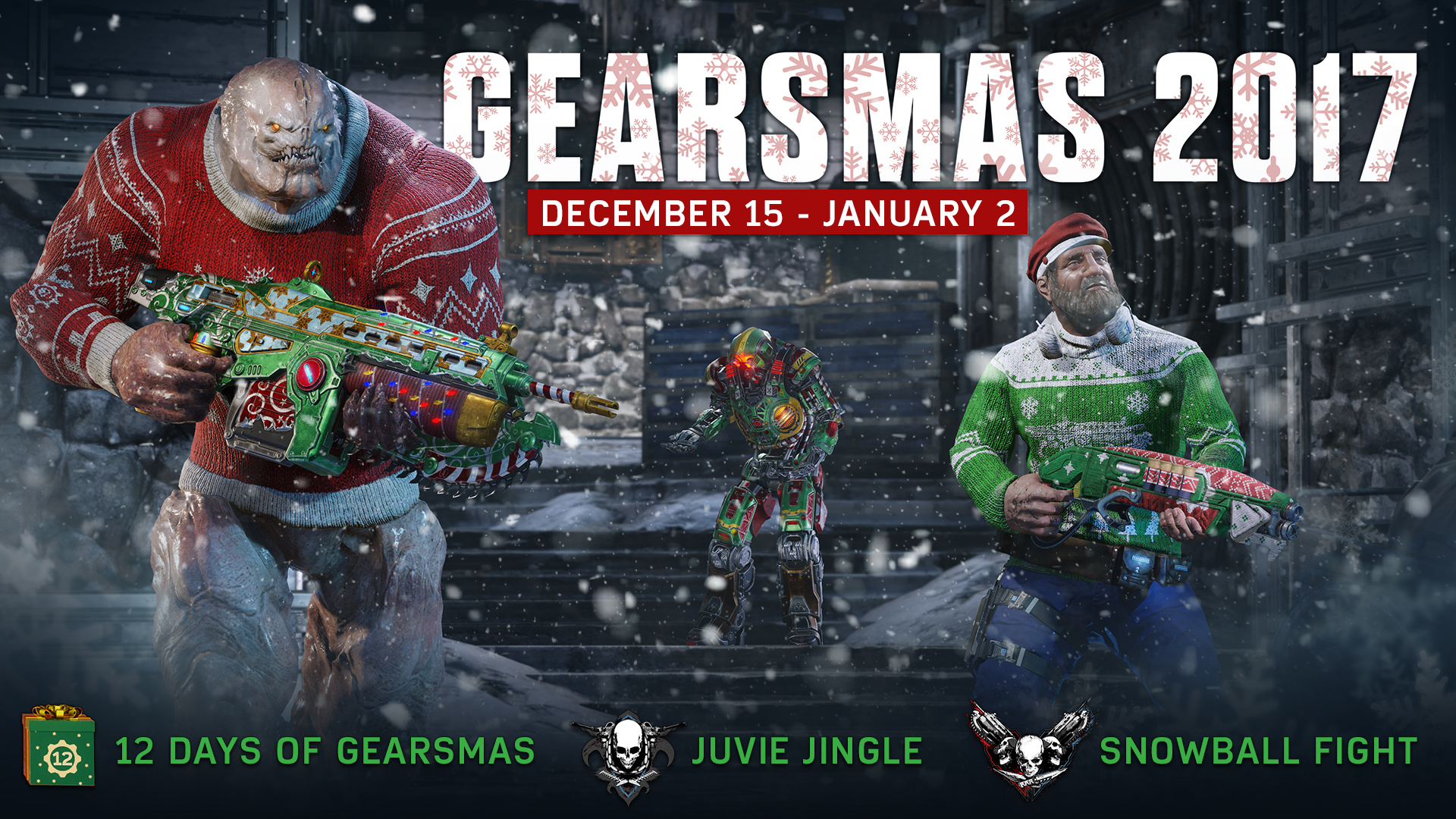Gearsmas 2017 event comes to Gears of War 4 this Friday