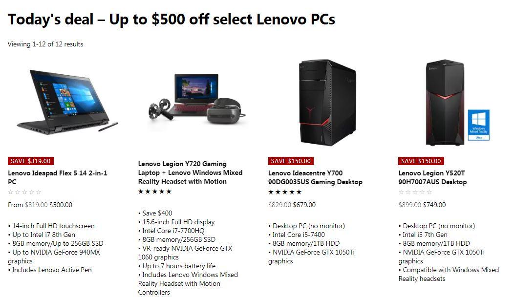 7 day deals lenovo