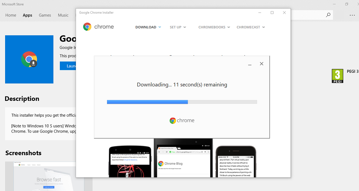 Massive news! You can now install Google Chrome from the Microsoft
