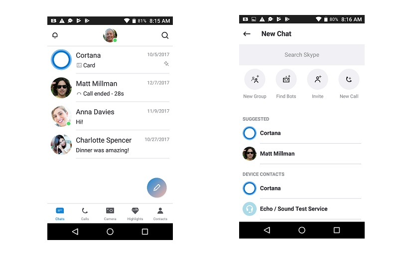 Skype For Android Update Adds SuperComposer, Implements Material Design