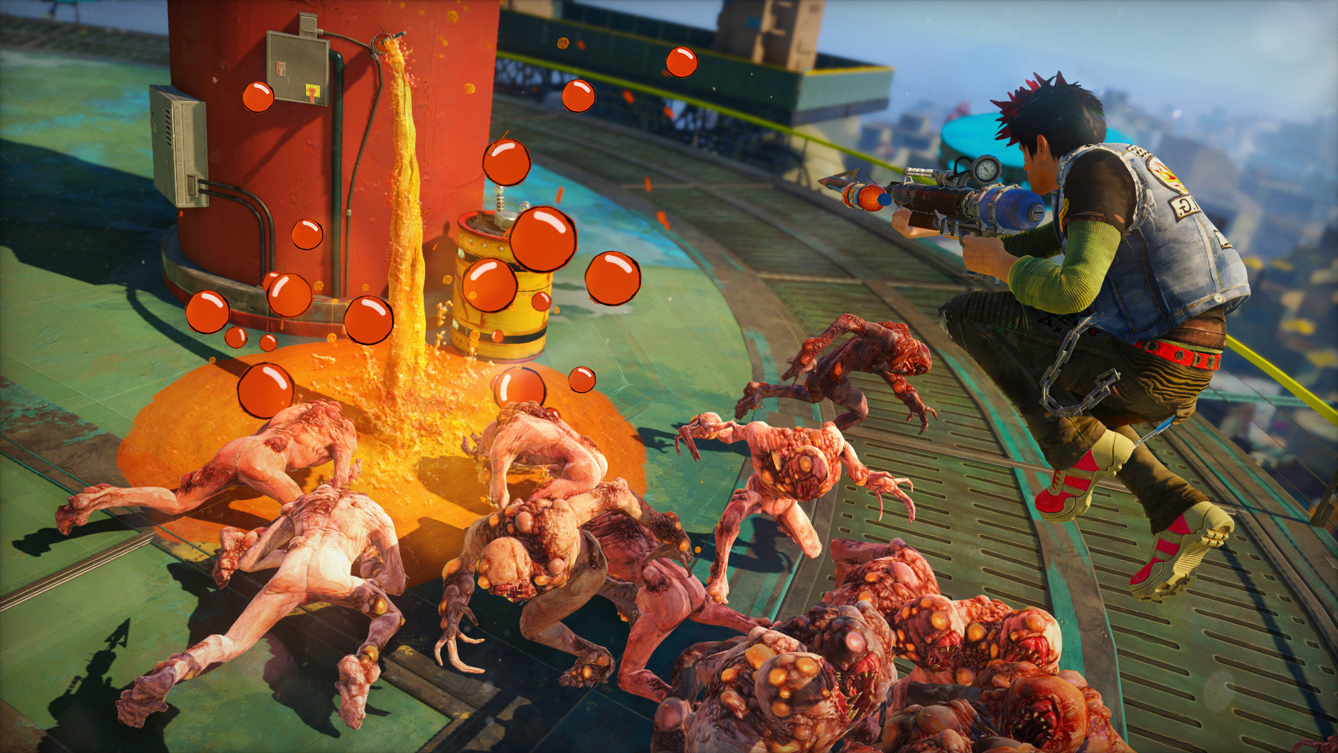 Check out Microsoft's new Xbox Game Pass commercial featuring Sunset Overdrive's Overcharge - MSPoweruser