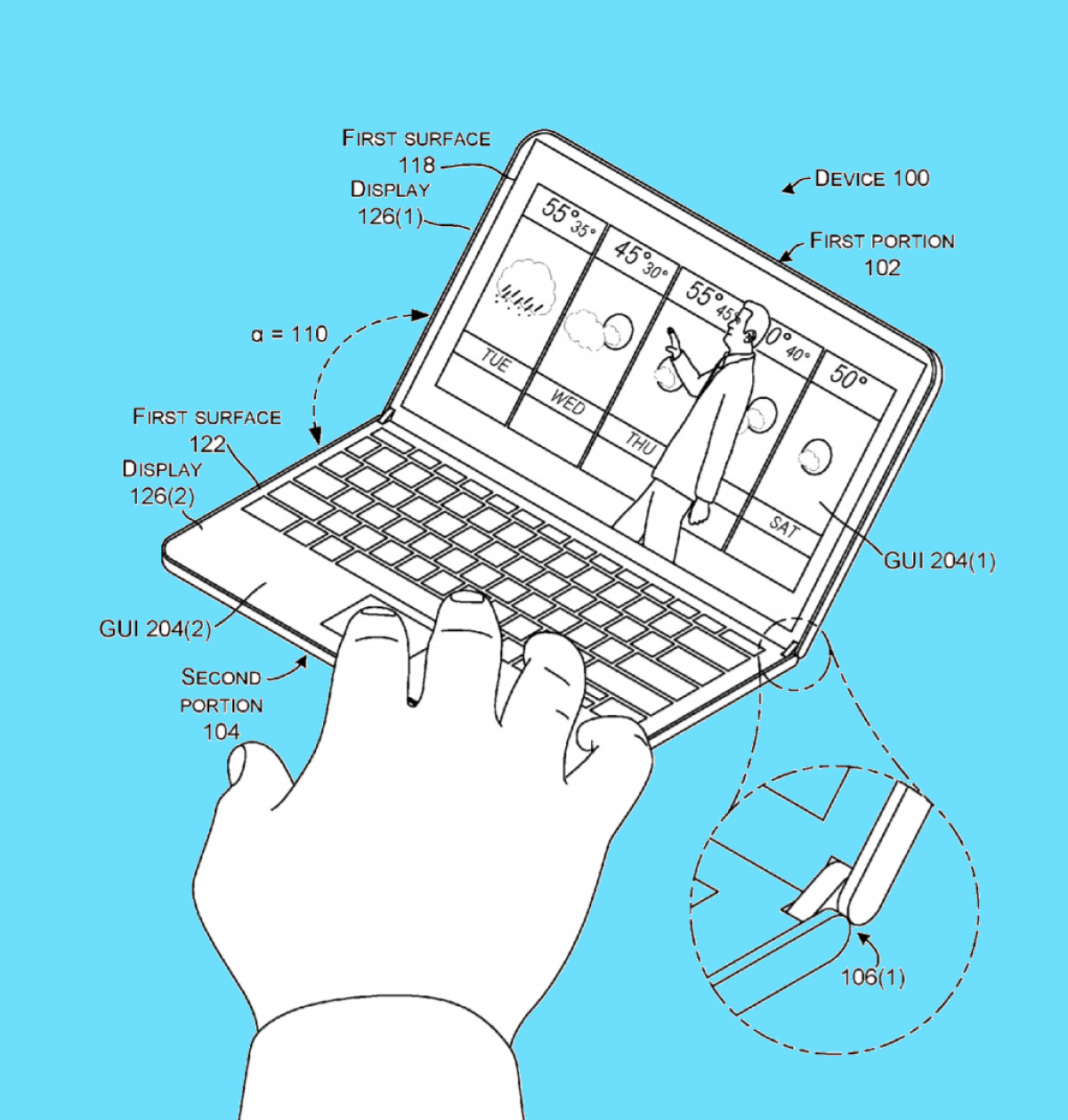 Microsoft Foldable Device Features New Hinge Design