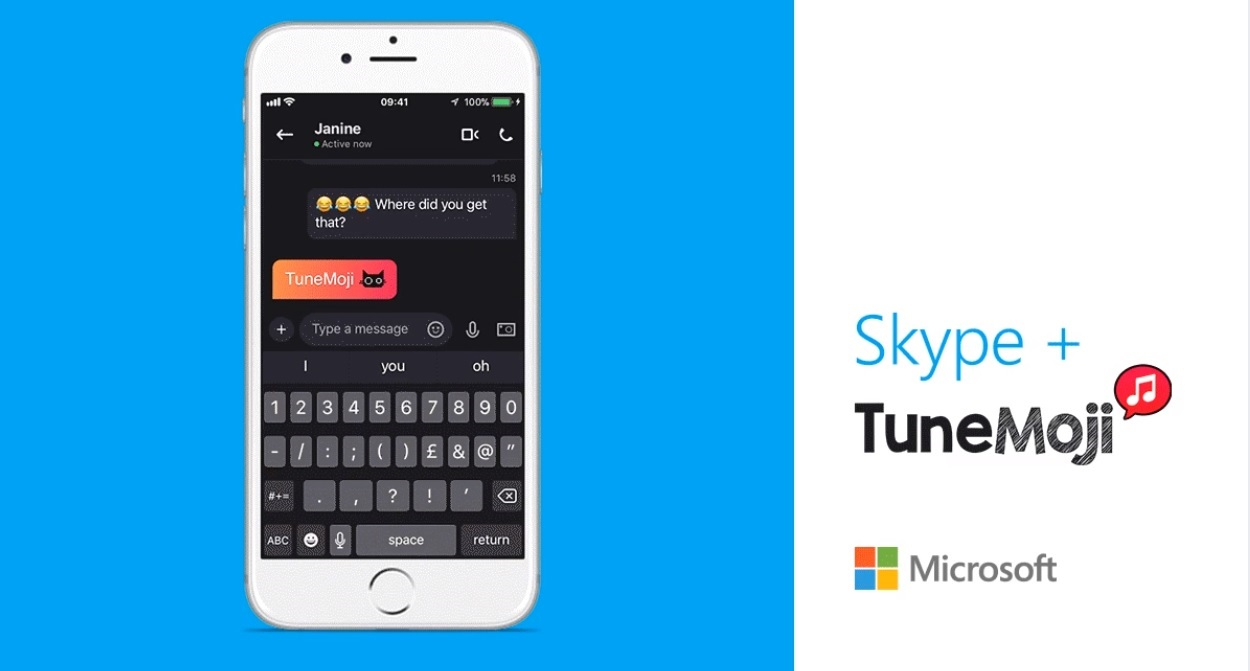 Make some noise! TuneMoji now available on Skype for mobile