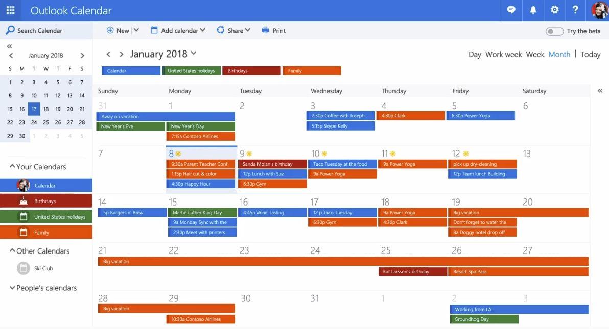 Year Calendar In Outlook : Microsoft announces redesigned outlook calendar