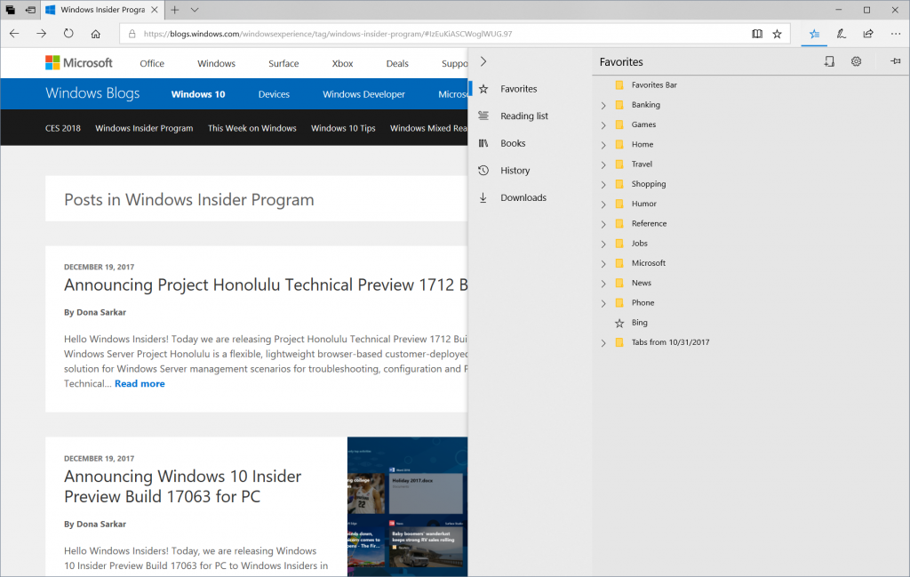 Latest Insider update brings several new features to
