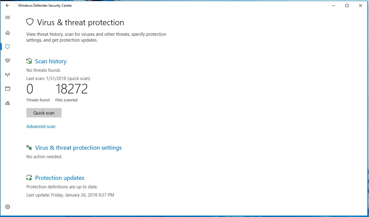 Windows Defender Antivirus will remove software that display
