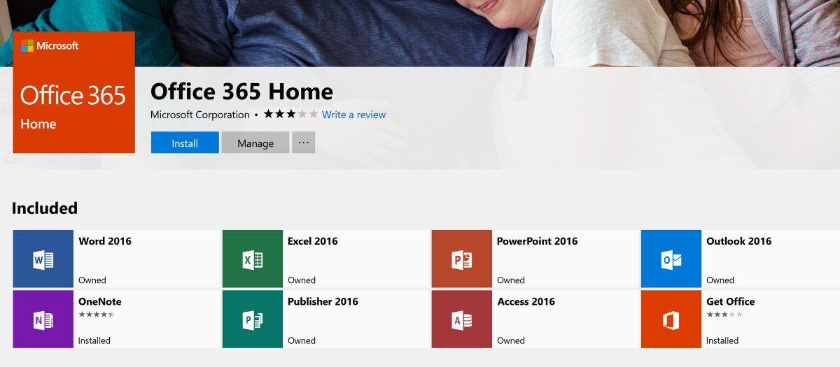 You can now install the Office 365 desktop apps directly from the Store 1