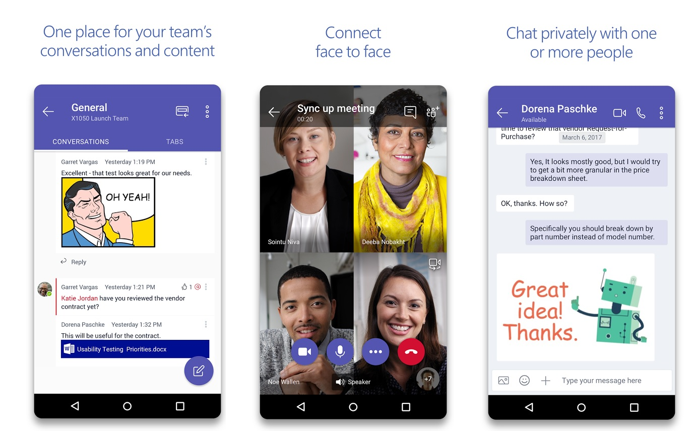 Microsoft Teams for Android updated with support for Dark theme, audio messages and more 1