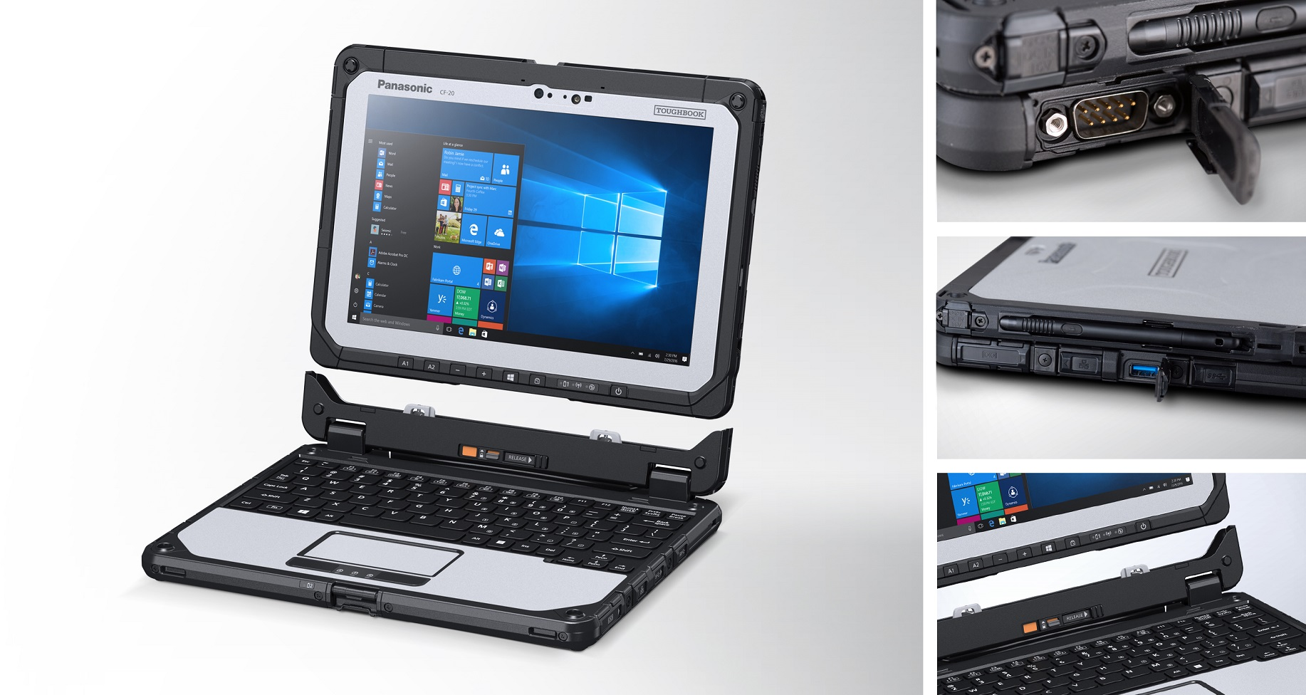 Panasonic updates Toughbook 20 with faster processor, standard features