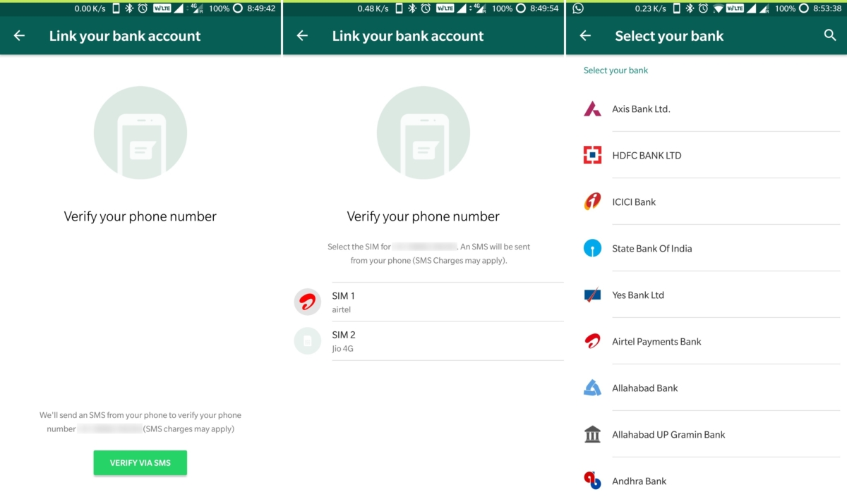 WhatsApp has launched person-to-person payments into beta in India