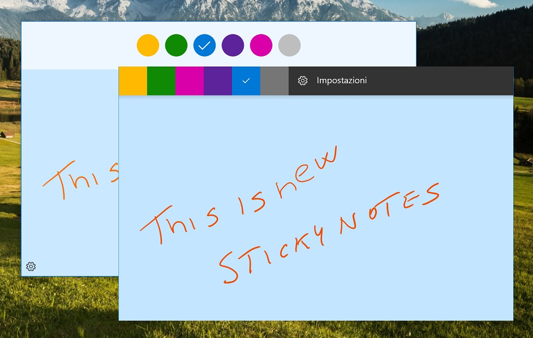 how to change sticky note color windows 10
