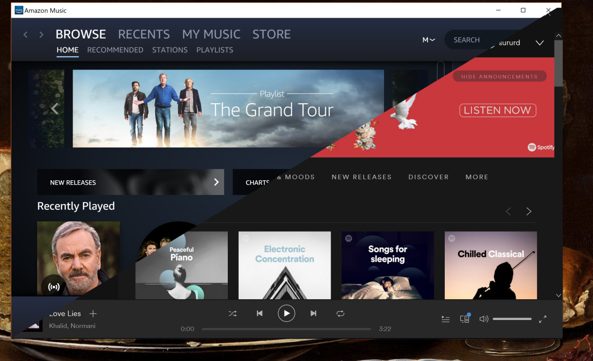 Both Spotify and Amazon Music updated in the Microsoft Store