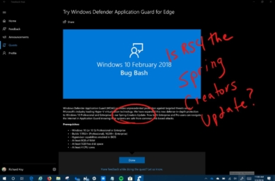 Redstone 4 is likely to be named Windows 10 Spring Creators Update 7