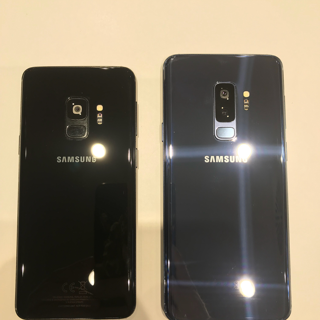 more real life samsung galaxy s9 and s9 pictures leak. Black Bedroom Furniture Sets. Home Design Ideas