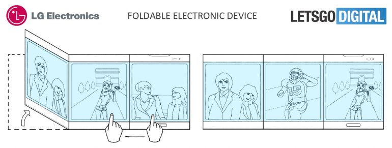Lg Patents A Foldable Device With Multiple Displays