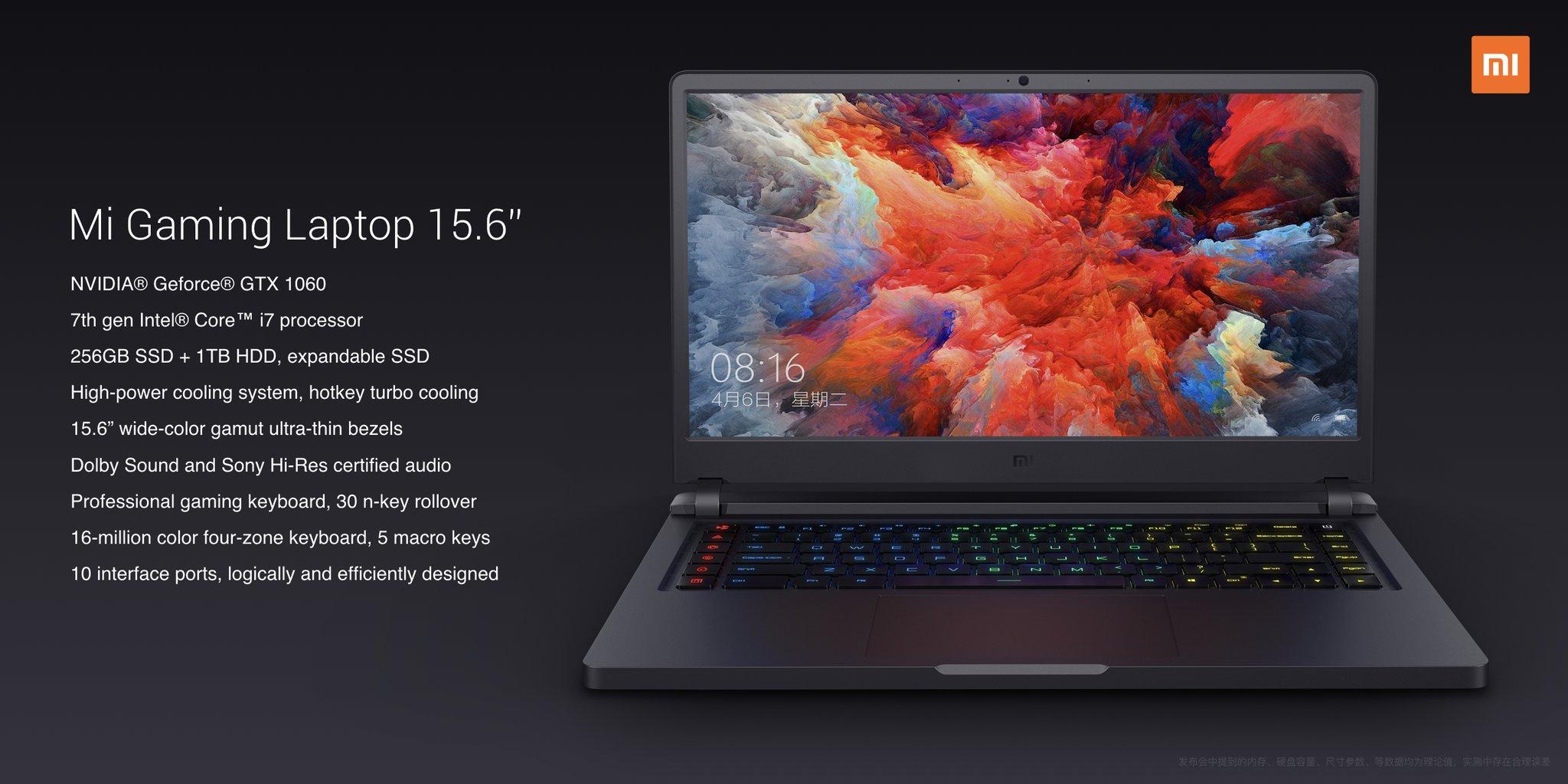 Xiaomi Gaming Laptop Wallpaper: Xiaomi Announces New Mi Gaming Laptop With NVIDIA GTX 1060