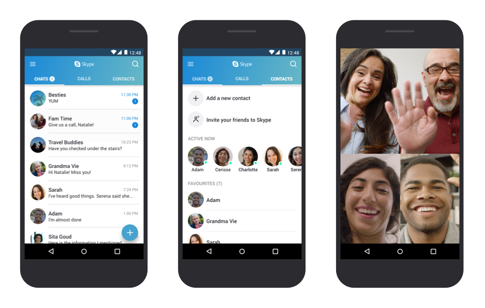 Skype for Android now supports the Android phone book