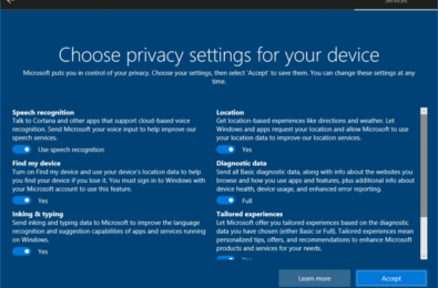 Microsoft reveals new privacy set up experience coming to Windows 10 3