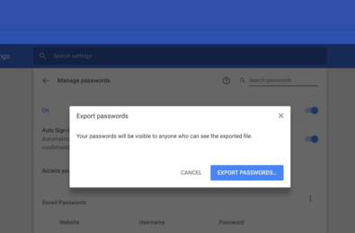 You will soon be able to export your Google Chrome password collection 14