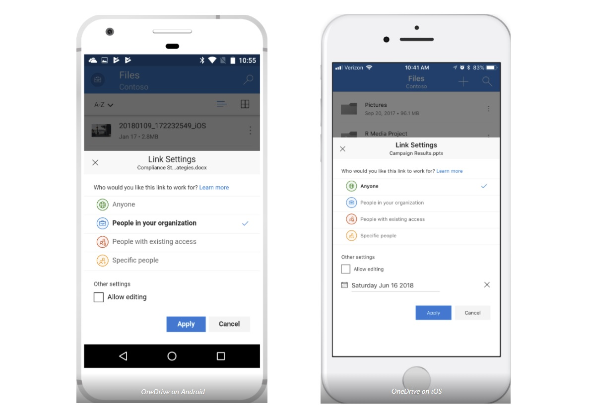 Microsoft brings improved sharing experience to OneDrive iOS