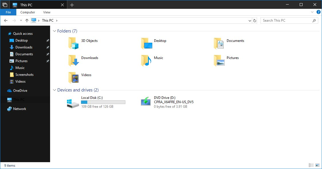 Microsoft is finally working on a dark theme for File