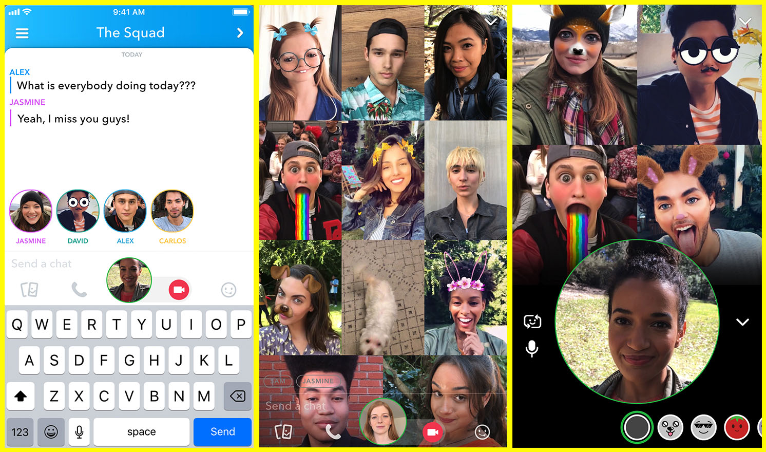 Snapchat Adds Group Video Chat, Allows Tagging