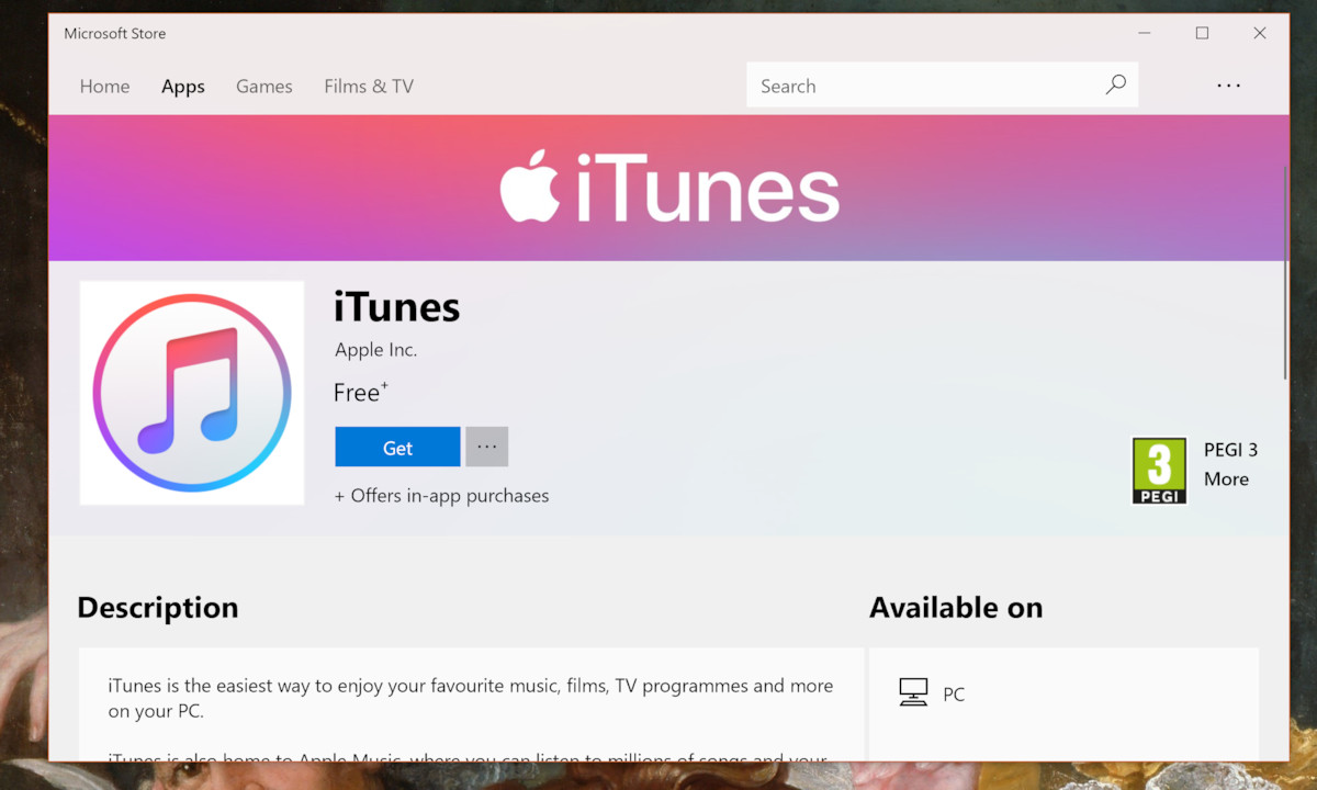 Apple Finally Makes iTunes Available in the Microsoft Store