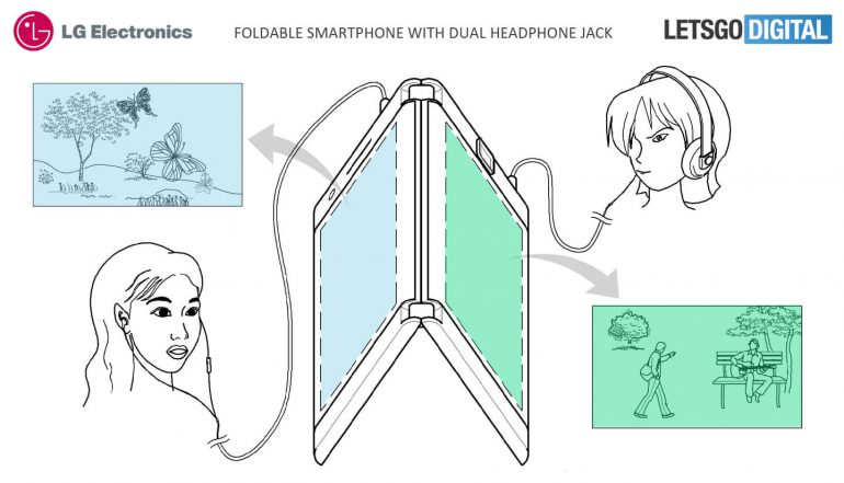 LG filed a patent for a smartphone with two displays, two headphone jacks and two batteries 3