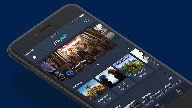 Mixer's mobile app is getting an update featuring picture-in-picture