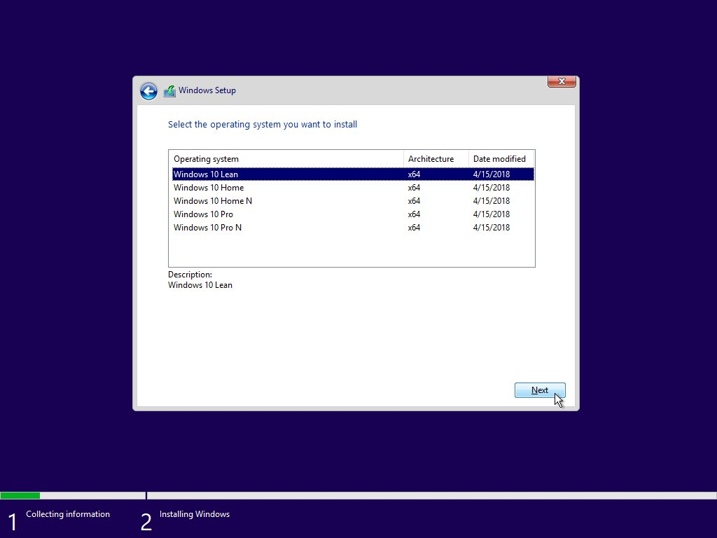 Windows 10 Lean (Premium)
