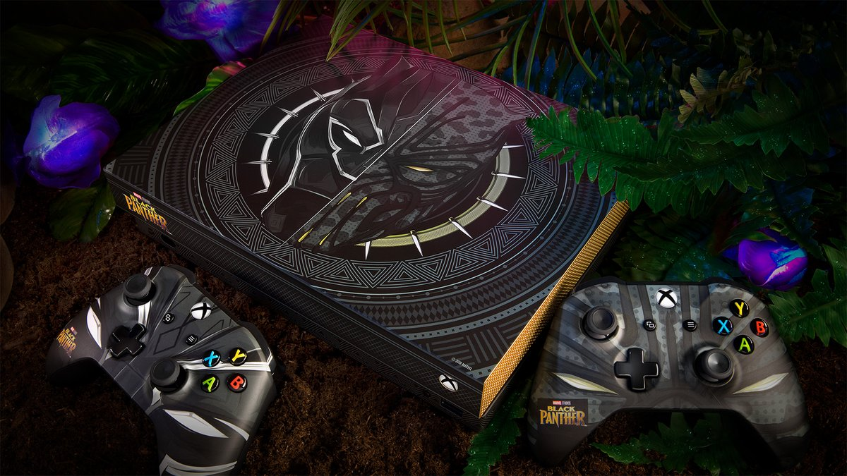 Contest gives fans a chance to win a custom Black Panther Xbox One X 1