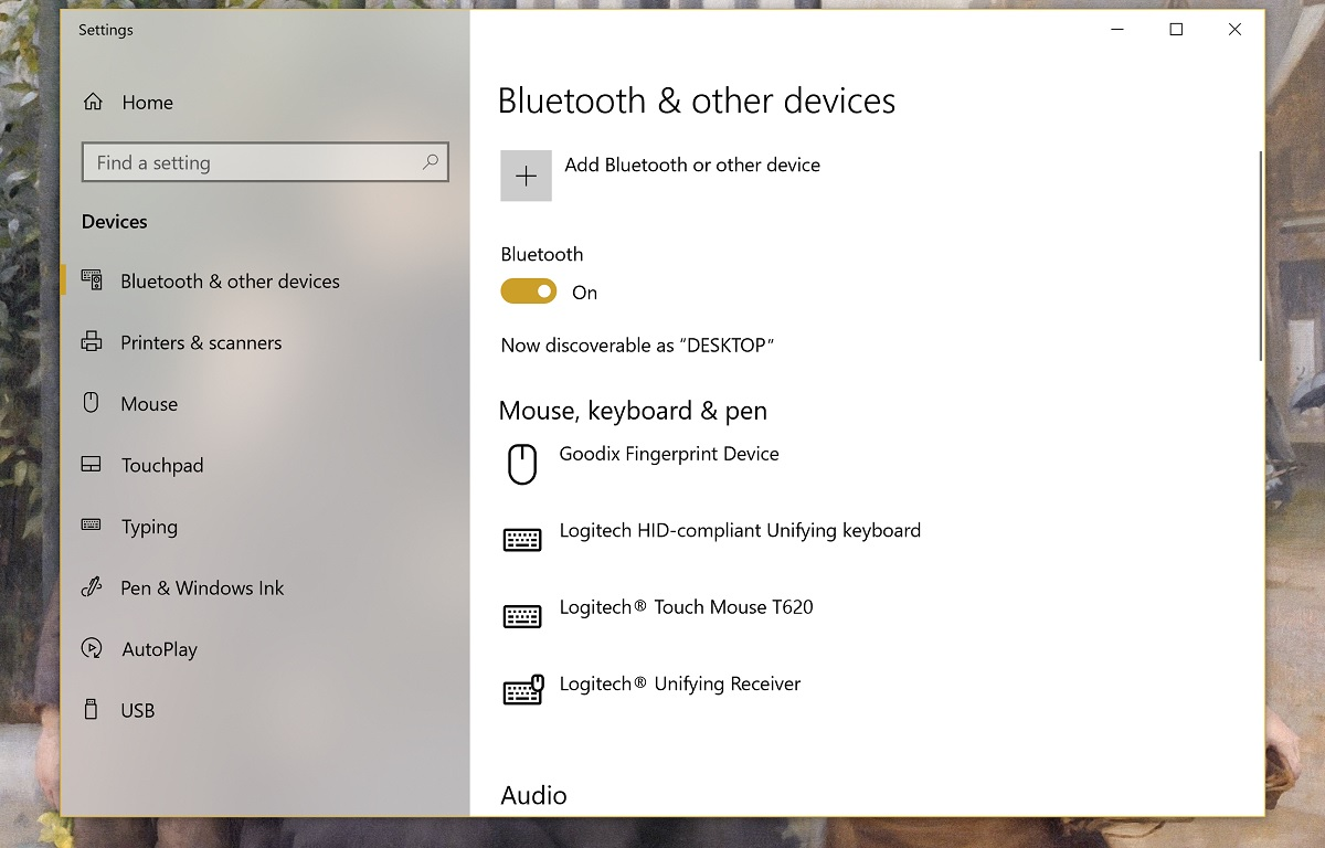 enable bluetooth windows 10 desktop