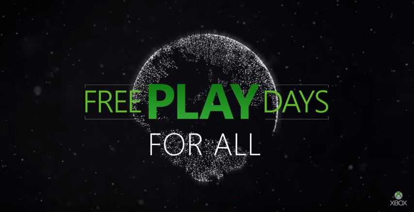 Free Play Days For All Event Takes Place This Weekend On Xbox