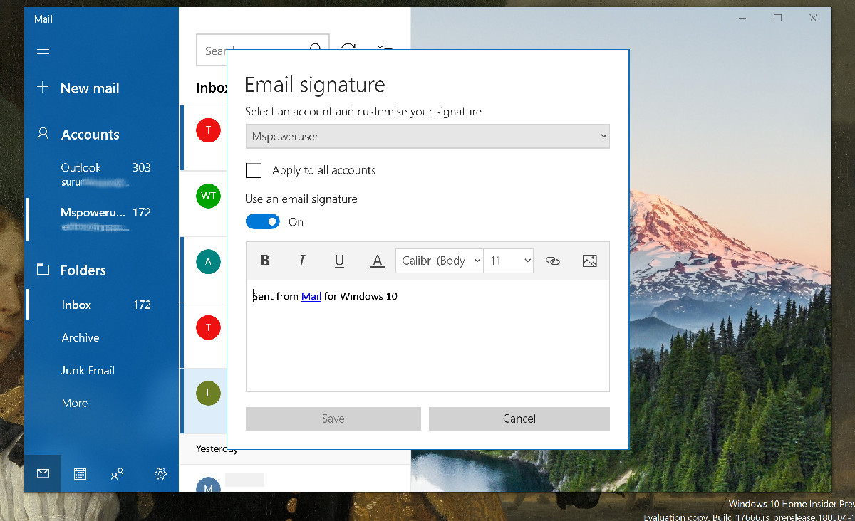 Windows 10 Mail and Calendar app gets a long-missing feature