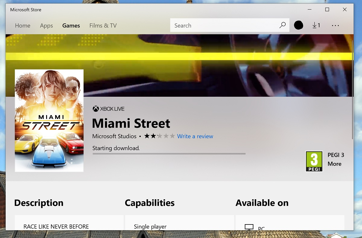 To-play PC racing game Miami Street given limited release