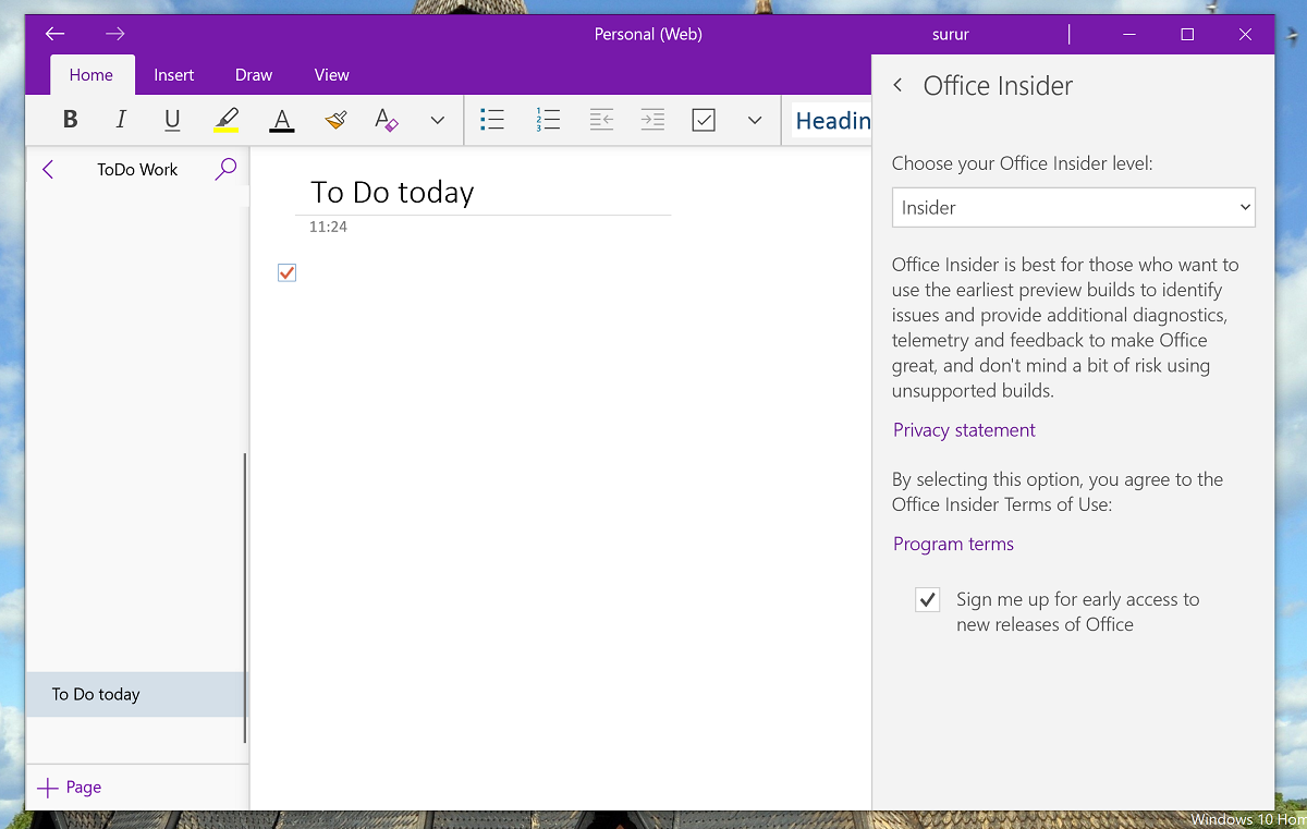 You can now get Preview builds of OneNote without becoming Windows 10 Insiders