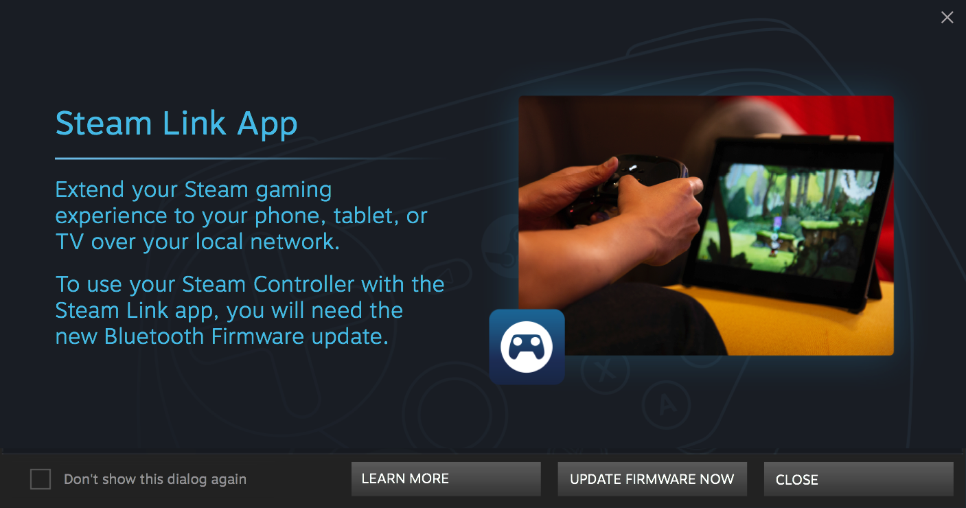 Steam Controller Supports Bluetooth in the Beta Version