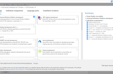 Visual Studio 15.8 Preview 1 now directly supports ARM64 development 17