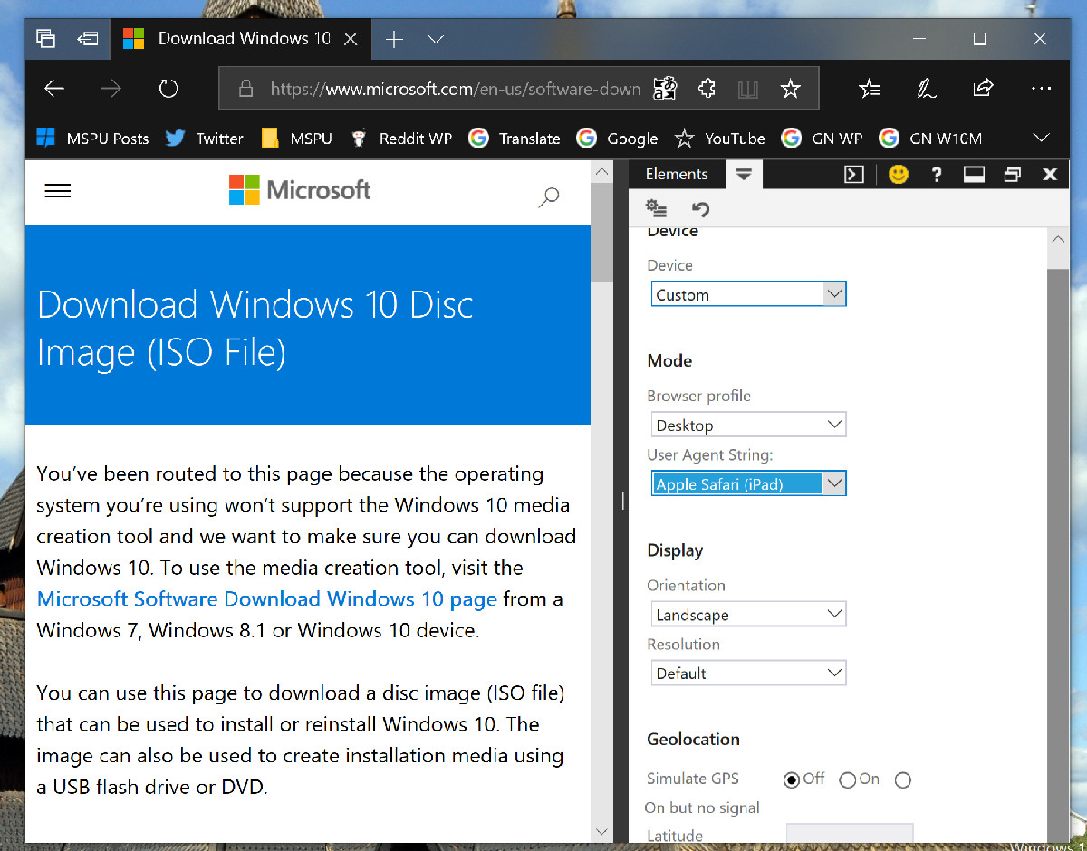 Tip: How to easily download the Windows 10 ISO without using the