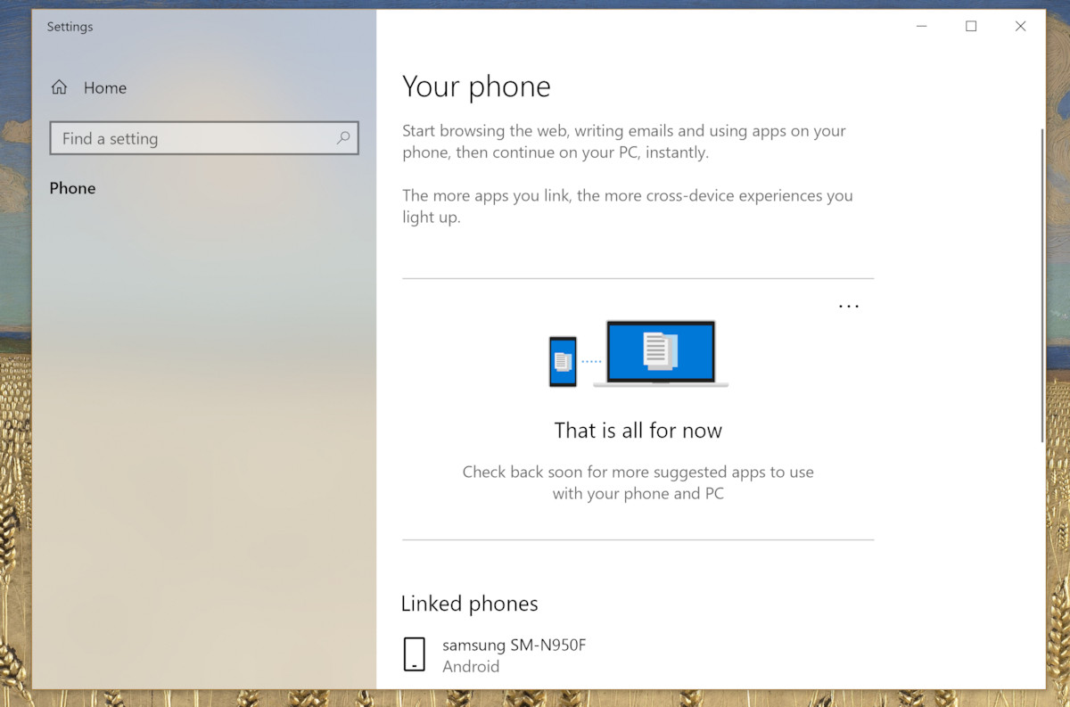Microsoft's Your Phone app pops up in the Store, purpose unclear