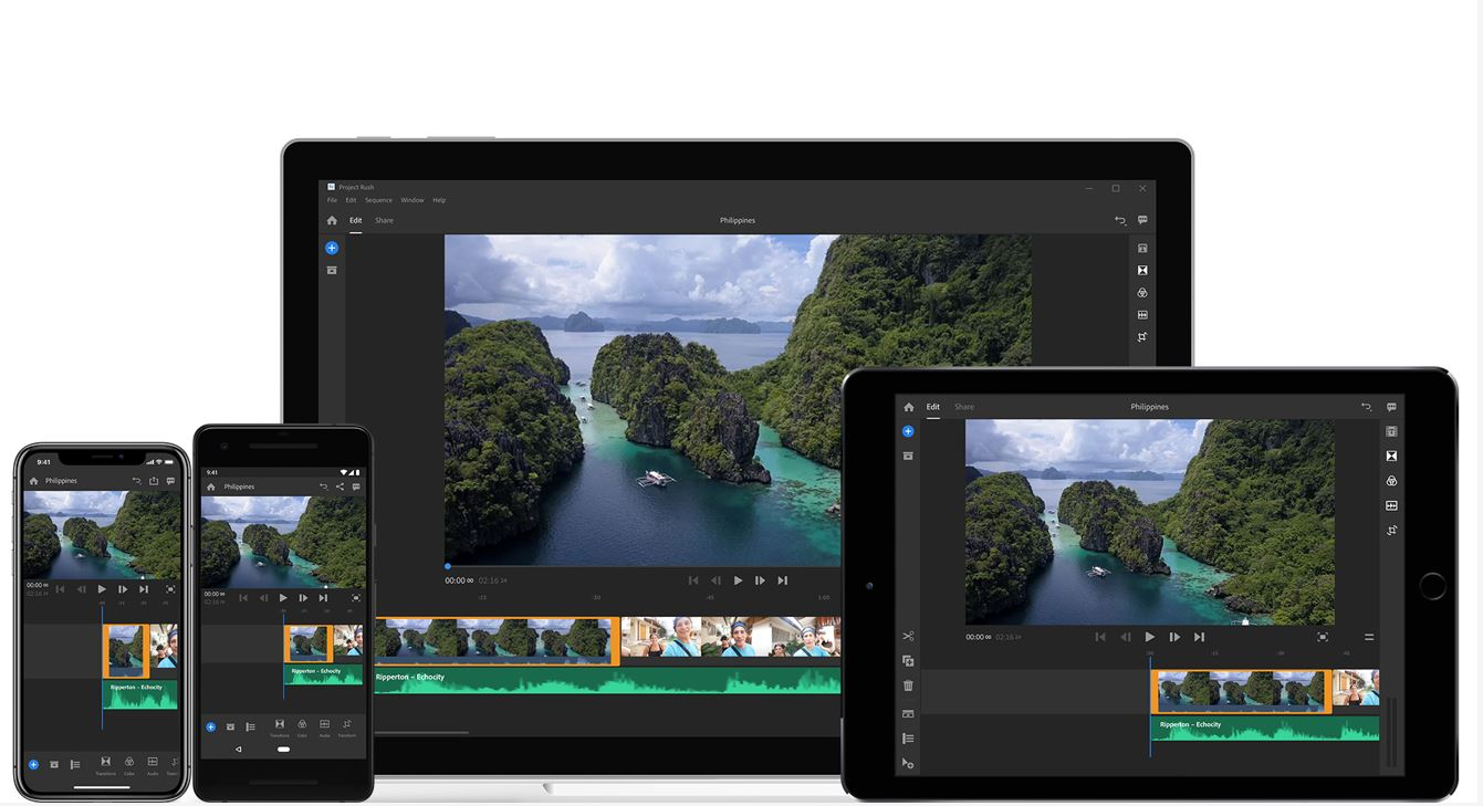 Adobe Premiere Rush CC, an all-in-one video app for desktops and mobile devices now available 1