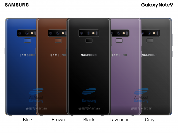Samsung Galaxy Note 9 Leaks - Improved Storage, RAM and Better Battery