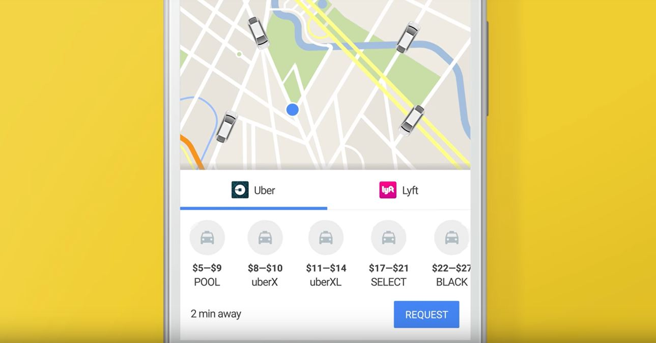 Booking Uber rides no longer possible via Google Maps on Android