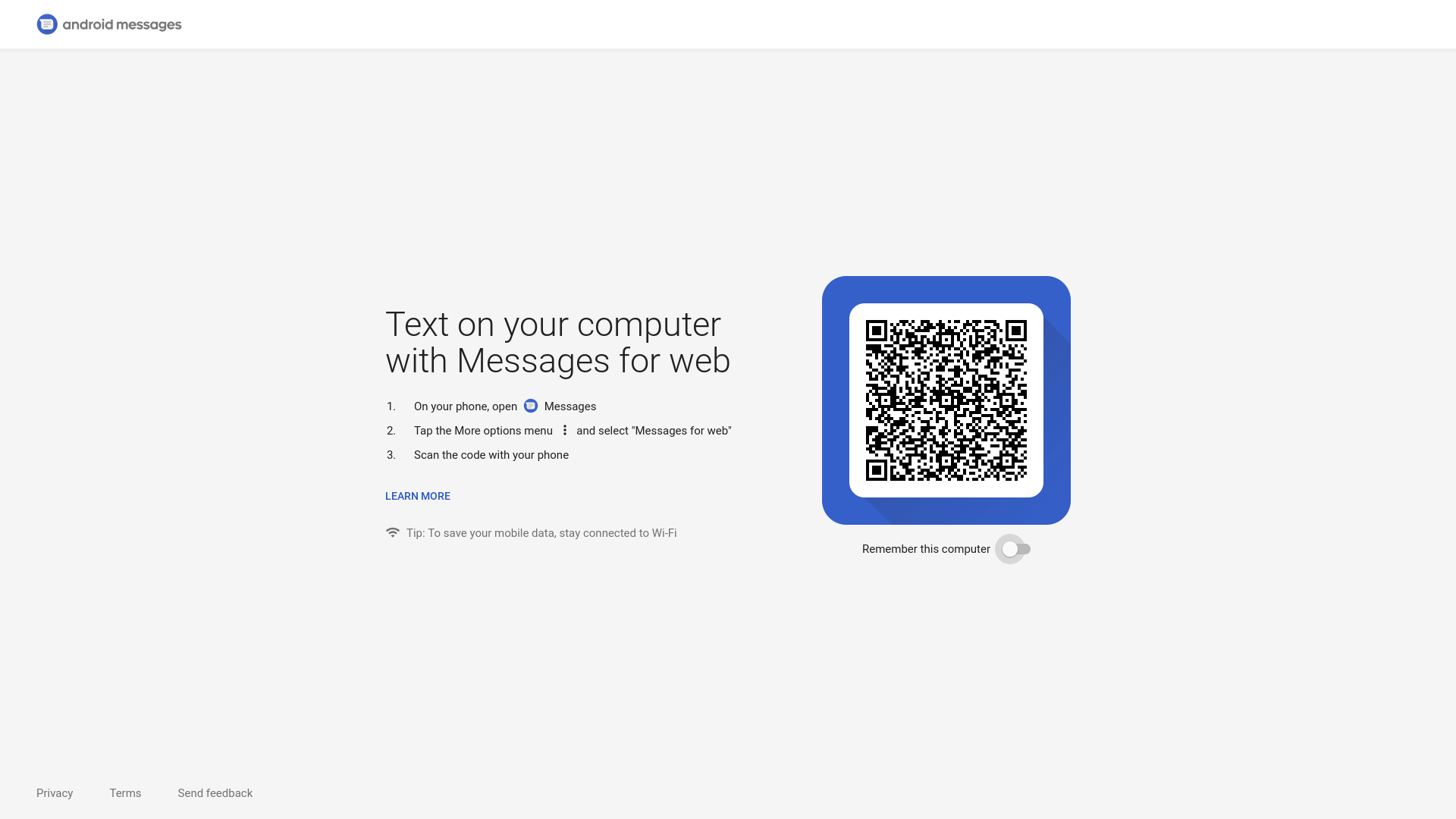 Android Messages on the web goes live